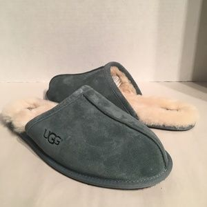 Men's Ugg Scuffette Blue Suede Slippers